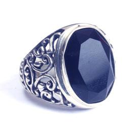 Ring zilver met edelsteen 0007