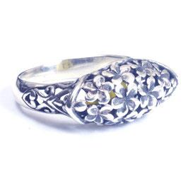 Ring zilver met edelsteen 022