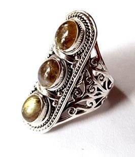 Ring zilver met edelsteen M R 003