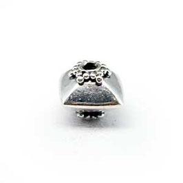 Zilveren kraal B309