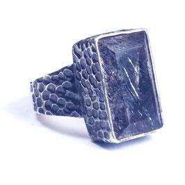 Ring zilver met edelsteen 008