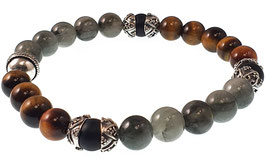 Bead armband 8mm Eagle eye/Tiger eye