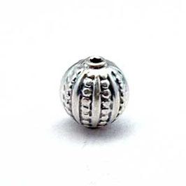 Zilveren kraal B037