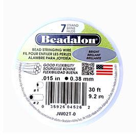 Beadalon geplastificeerd staaldraad B/7 0,46mm