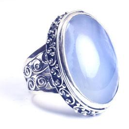 Ring zilver met edelsteen 0014