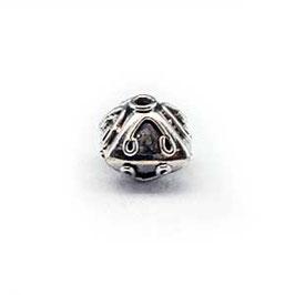 Zilveren kraal B123