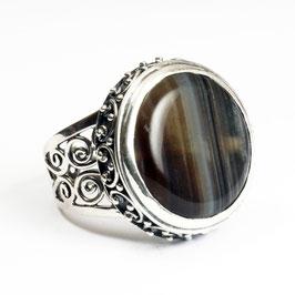 Ring zilver met edelsteen 0001