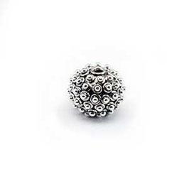 Zilveren kraal B173