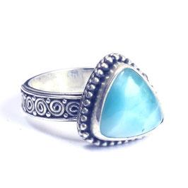 Ring zilver met edelsteen 0038