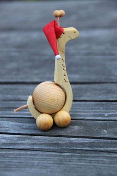 Rollgiraffe mit Weihnachtsmütze