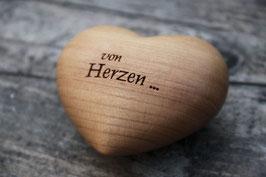 """Holzherz """"von Herzen..."""""""
