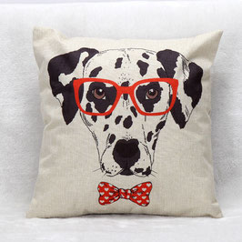 "Dalmatian cushion cover ""Funny"""