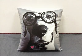 "Dalmatian cushion cover ""Crazy"" / Dalmatiër kussenhoes ""Crazy"""