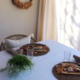 Tischdecken aus Musselin
