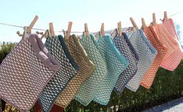Der beliebte Waschhandschuh mit neuem Muster
