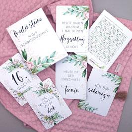 """Meilensteinkarten für die Schwangerschaft """"Floral"""""""