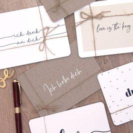 """Postkarten """"Love"""""""
