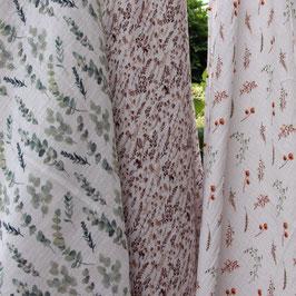 Plaids aus Musselin Double/Gauze Eukalyptus, Trockenblumen & Blätter/Trockenblumen