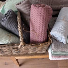 Decken aus Waffel Piqué Fein