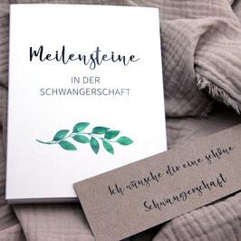 """Meilensteinkarten für die Schwangerschaft """"Zweige"""""""