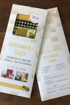 Bienenwachs-Tücher 3er-Set