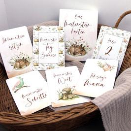 """Meilensteinkarten """"Waldtiere"""""""