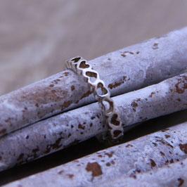Ring silber mit Herzen