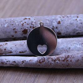 Silberanhänger mit Herz