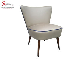RETRO CLUB CHAIR '50s RESTAURATA BEIGE