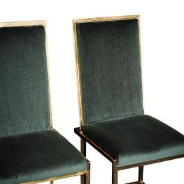 Coppie di sedie Willy RIzzo in velluto di lana