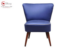 venduta RETRO CLUB CHAIR '50s RESTAURATA blu