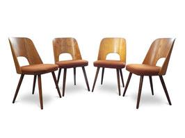 Quattro sedie vintage anni '50