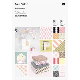 Bloc de papier A4 à motif - 30feuilles - 2 /dessin