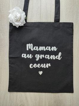 """Tote bag """"Maman au grand coeur"""""""