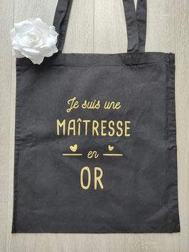 """Tote bag """"Maîtresse en Or"""""""