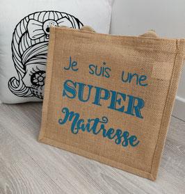 """Cabas """"Super maîtresse"""""""
