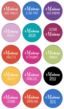 "Marque-pages pince ""Madame"""