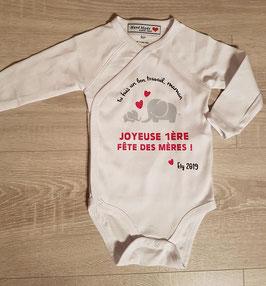 """Body personnalisé """"Fête des mères"""""""