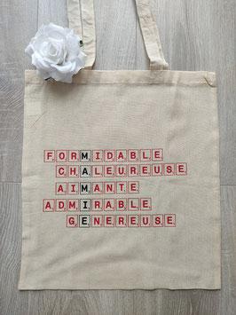 """Tote bag """"Mamie scrabble"""""""