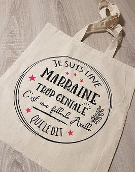 """Tote bag """"Marraine personnalisé"""""""