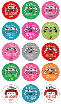 "Badge ""Femme parfaite II"""
