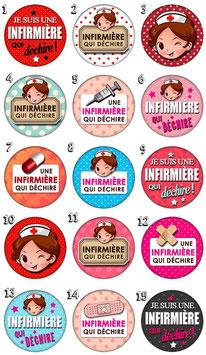 "Porte-clefs ""Infirmière I"""