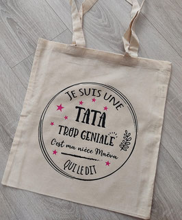 """Tote bag """"Tata personnalisé"""""""