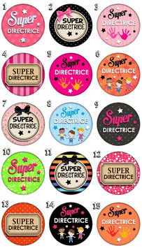 "Badge ""Directrice"""