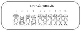 """Personnages """"Grands-parents"""" avec prénom"""