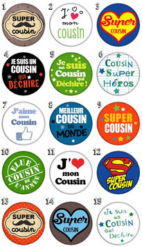 """Porte-clefs décapsuleur """"Cousin"""""""