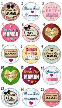 "Badge ""Bonne fête maman"""