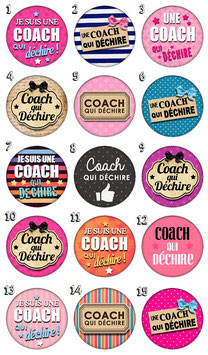 "Badge ""Coach qui déchire"""