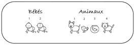 """Personnages """"Bébés & animaux"""" avec prénom"""