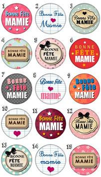 "Badge ""Bonne fête mamie"""